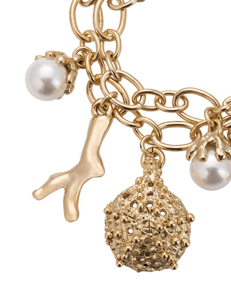 OSCAR DE LA RENTA Urchin pearl charm bracelet