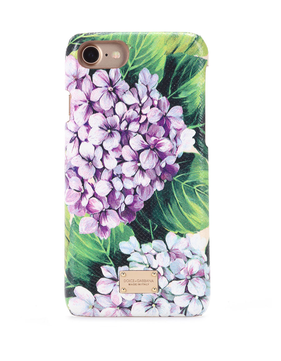DOLCE & GABBANA iPhone 7 printed leather case