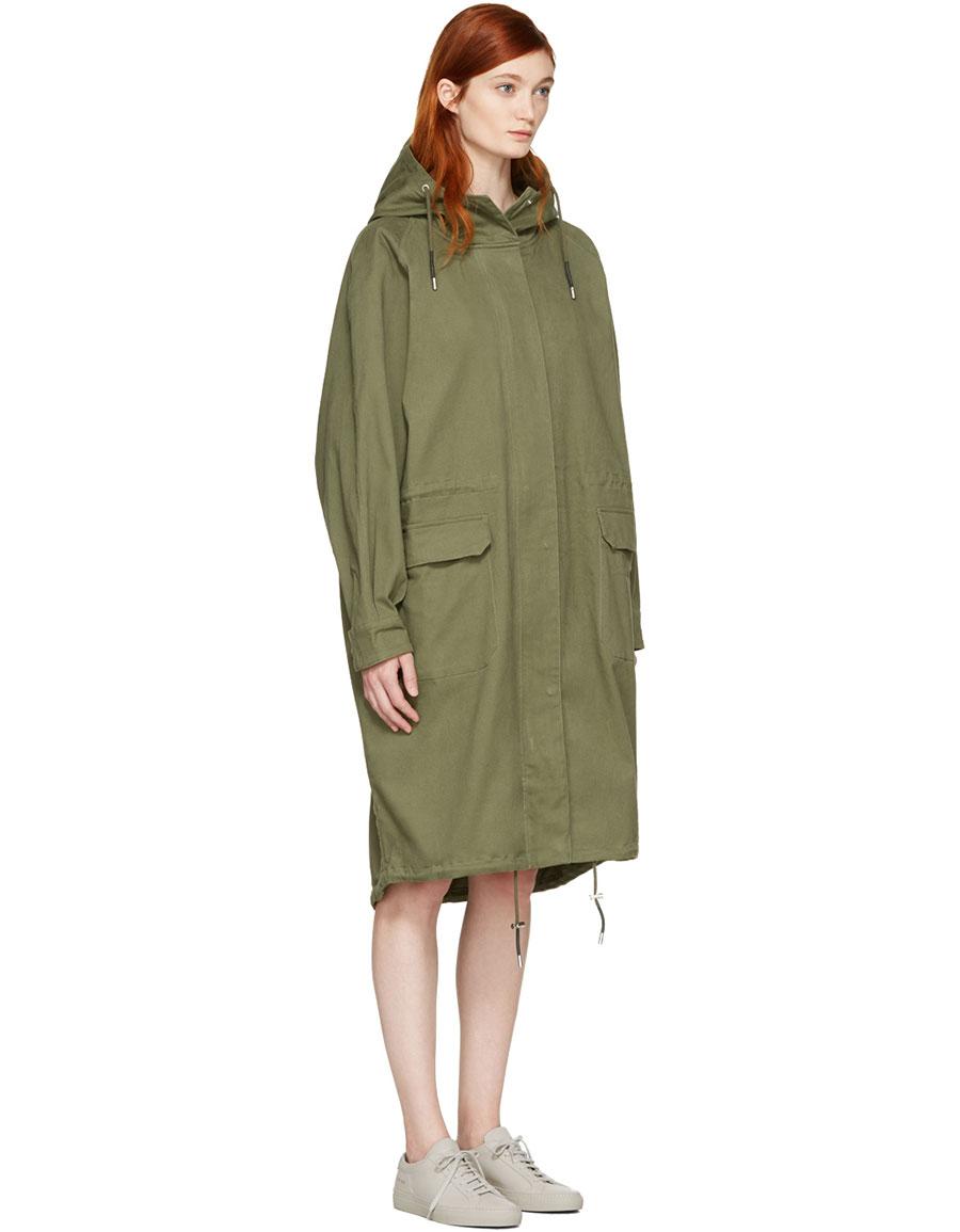 WON HUNDRED Green Amara 2 Coat