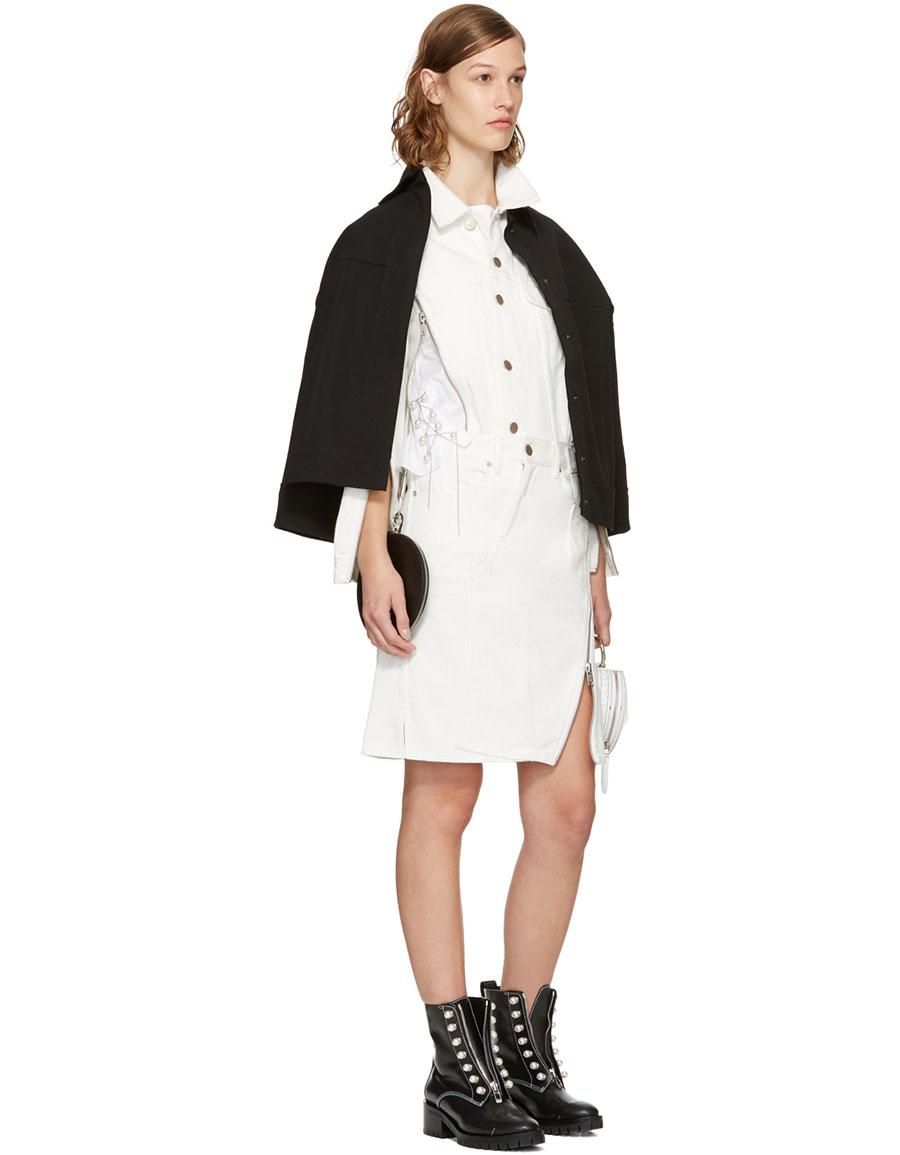3.1 PHILLIP LIM White Denim Zipper Jacket