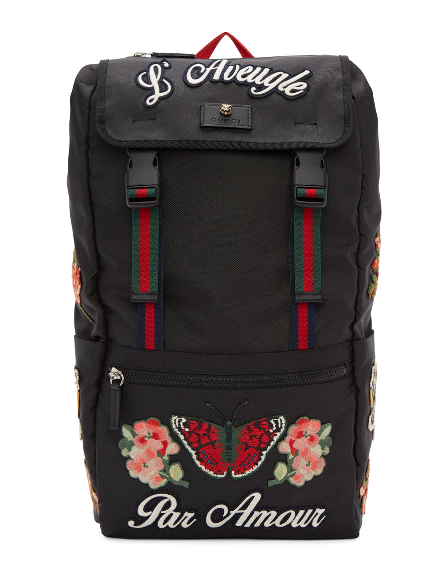 GUCCI Black  L Aveugle Par Amour  Techpack Backpack · VERGLE 172ad1e5f361c