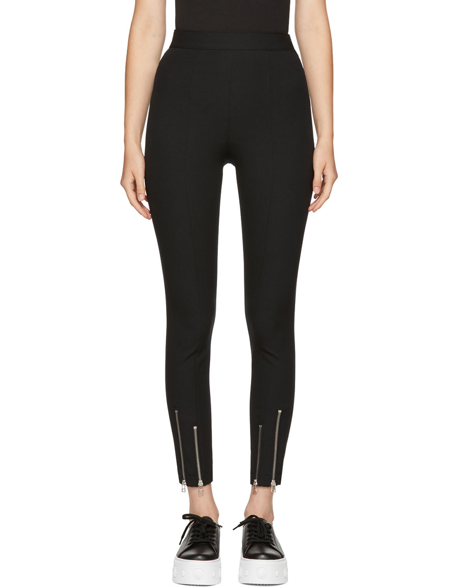 281fcf1893977f ALEXANDER WANG Black Ankle Zip Leggings · VERGLE