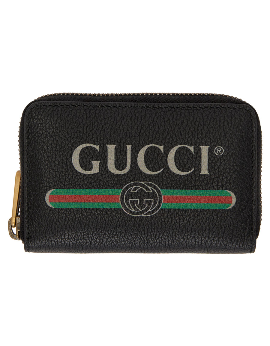 160372f8d6f1 GUCCI Black Logo Zip Around Wallet · VERGLE