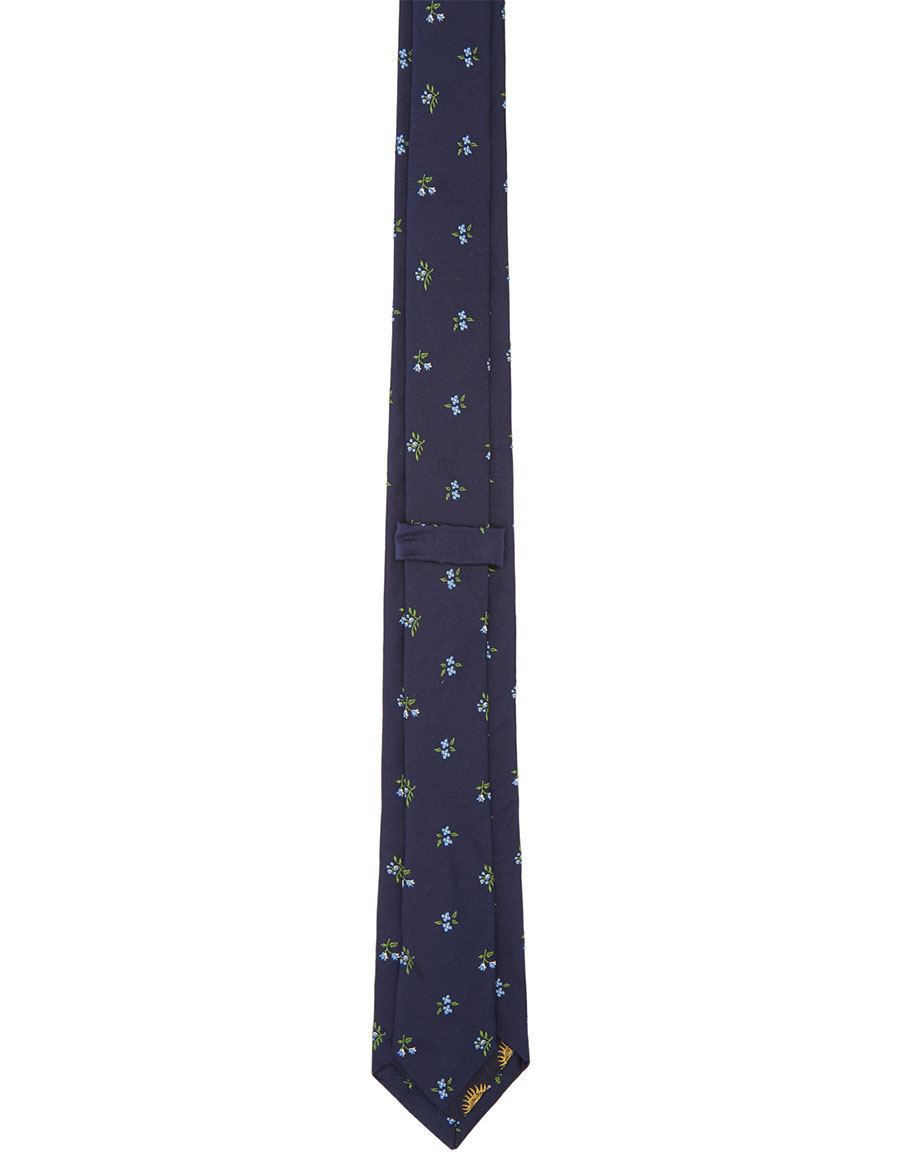 PAUL SMITH Navy Floral Blade Tie