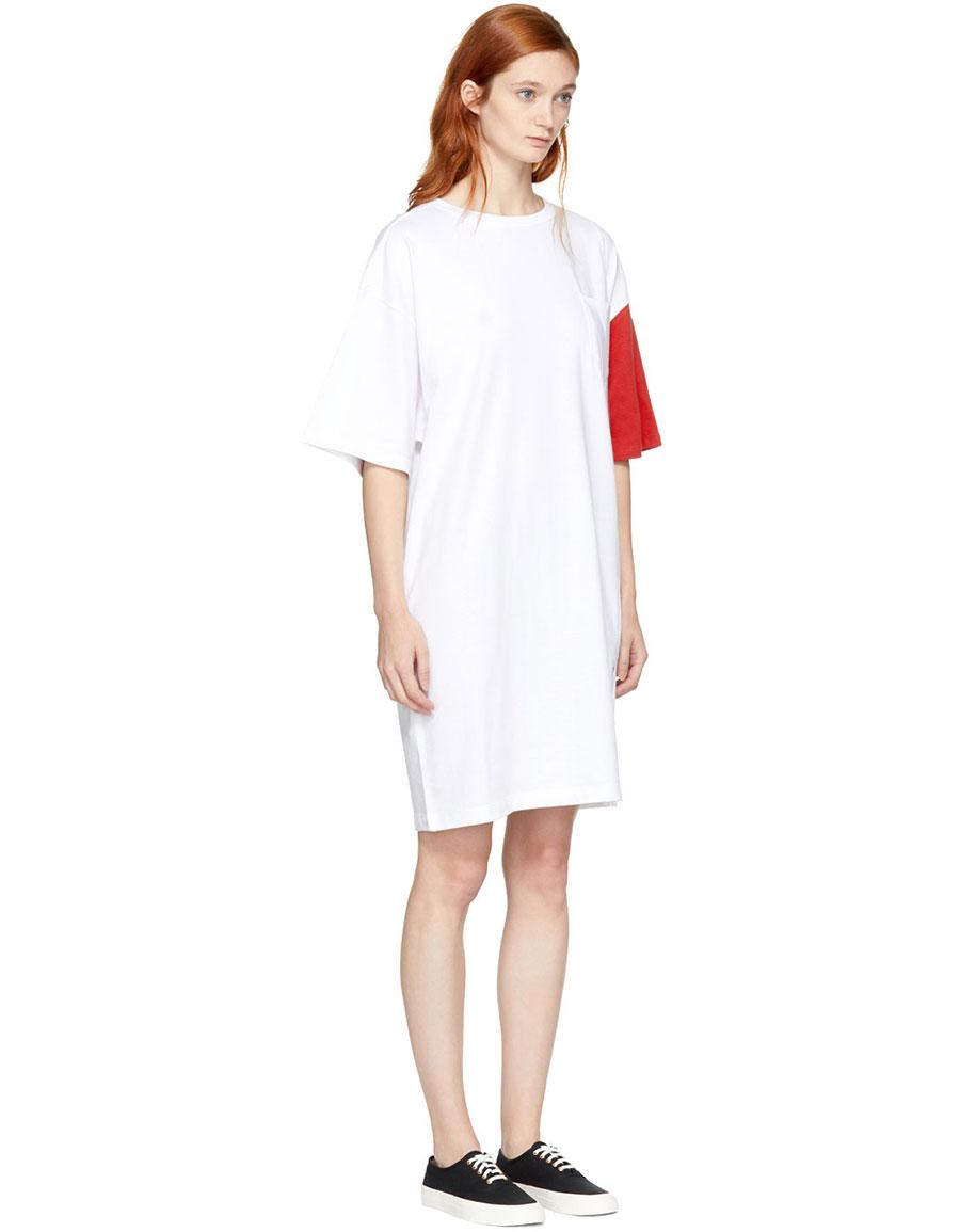 SJYP White & Red 'California Club' Tee Dress
