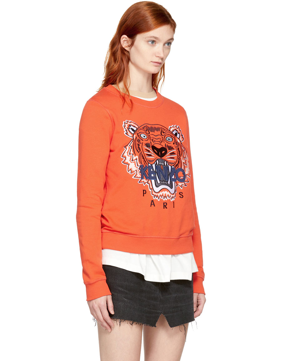 KENZO Orange Limited Edition Tiger Sweatshirt