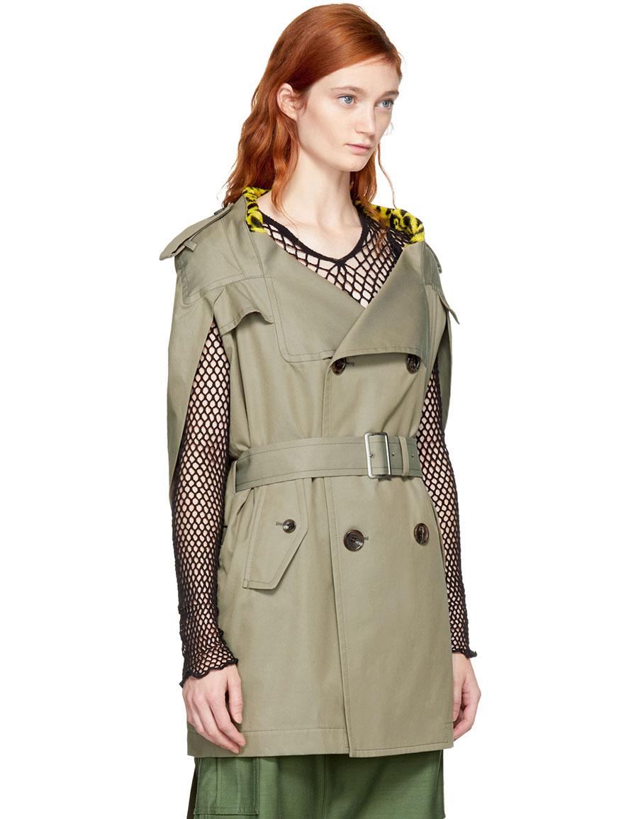 JUNYA WATANABE Beige Leopard Lining Trench Coat