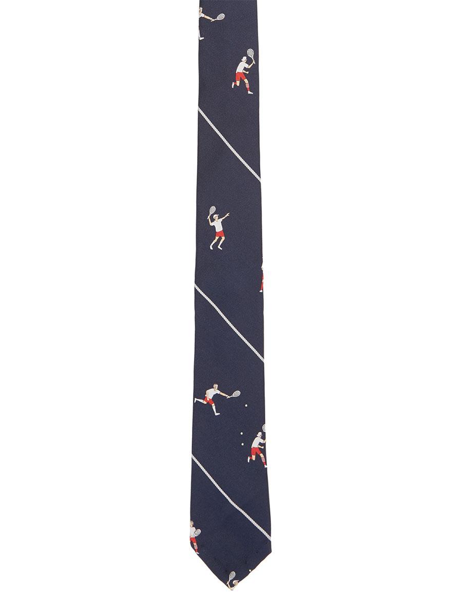 THOM BROWNE Navy Tennis Boys Classic Tie