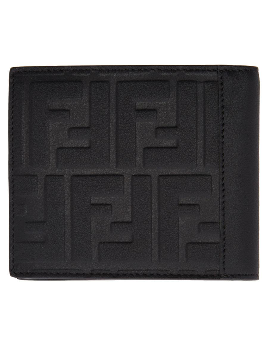 FENDI Black Logo Bifold Wallet