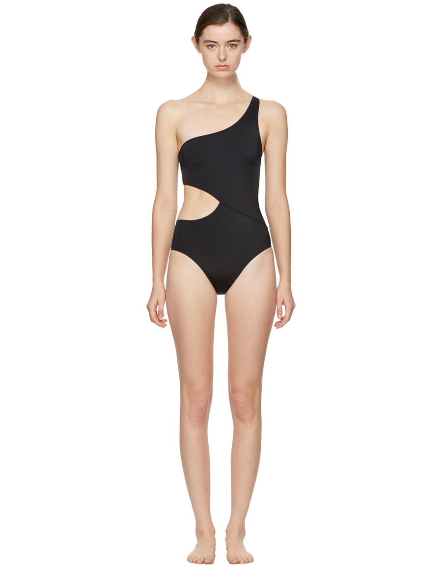0f6991836ab SOLID & STRIPED Black 'The Claudia' Swimsuit · VERGLE