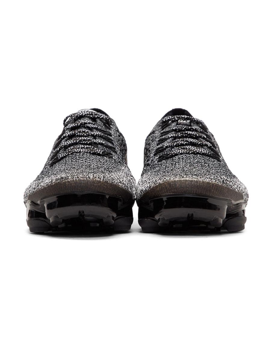 NIKE Black & White 'NikeLab' Air VaporMax Running Sneakers