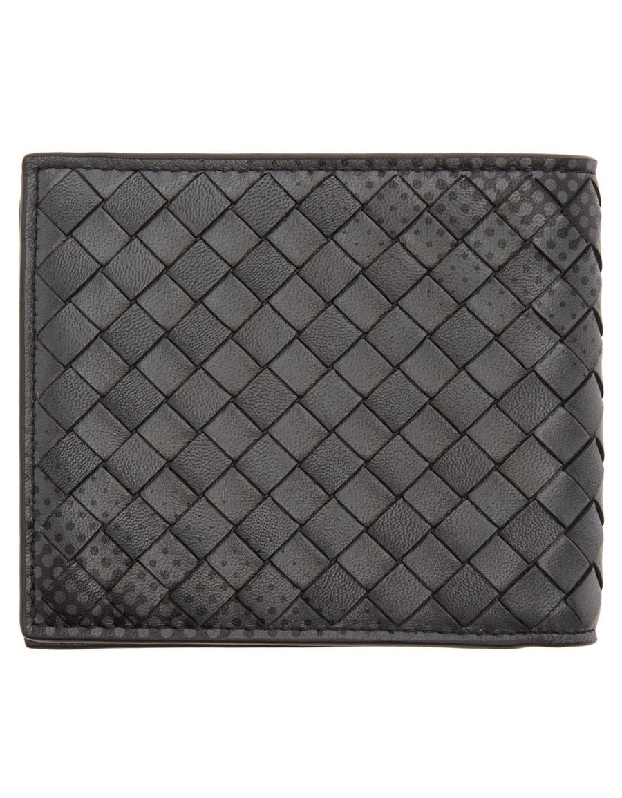 BOTTEGA VENETA Black Intrecciato Galaxy Wallet
