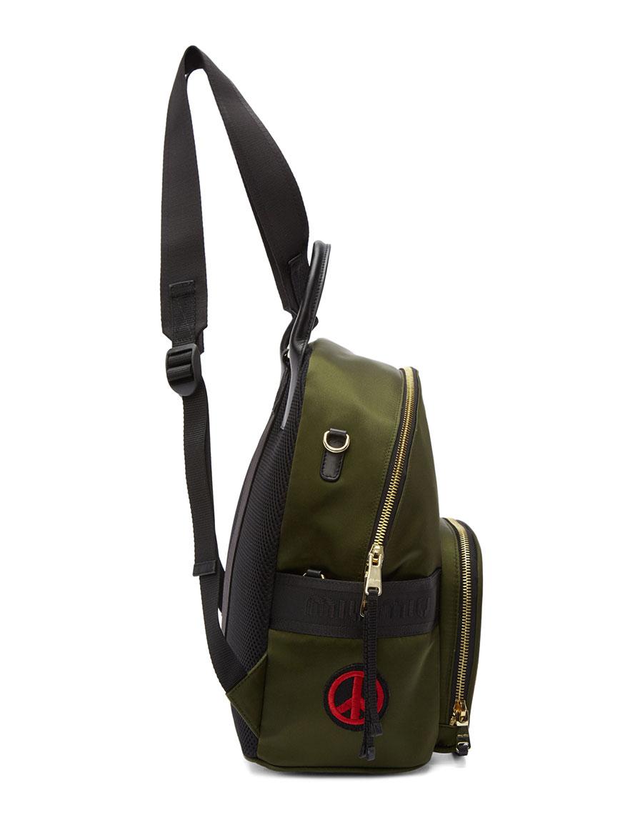 MIU MIU Green Patches Mini Backpack