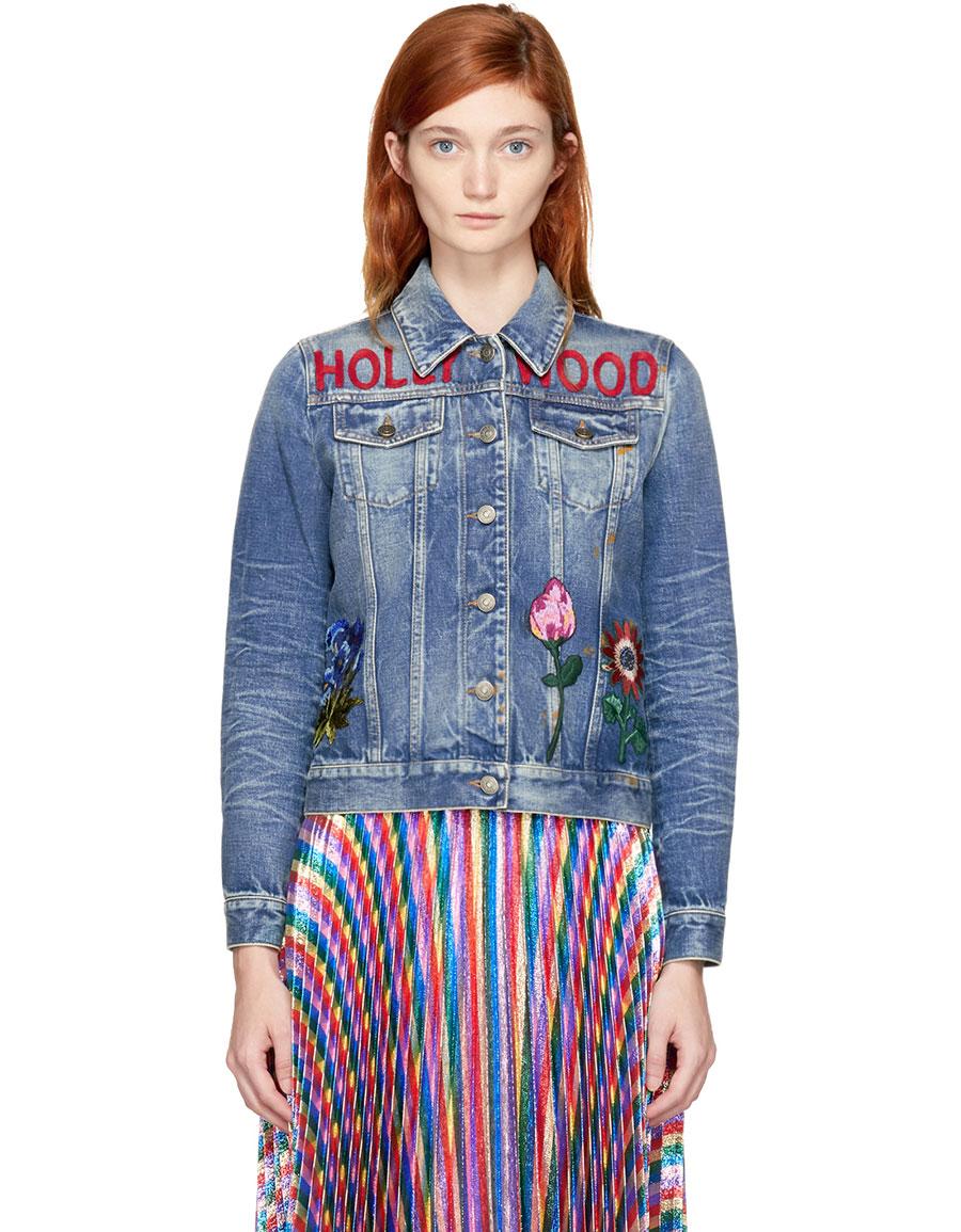 GUCCI Blue Denim 'Hollywood' Bunny Jacket