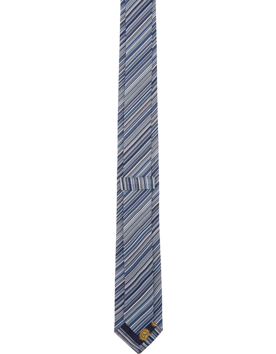 PAUL SMITH Navy Striped Blade Tie