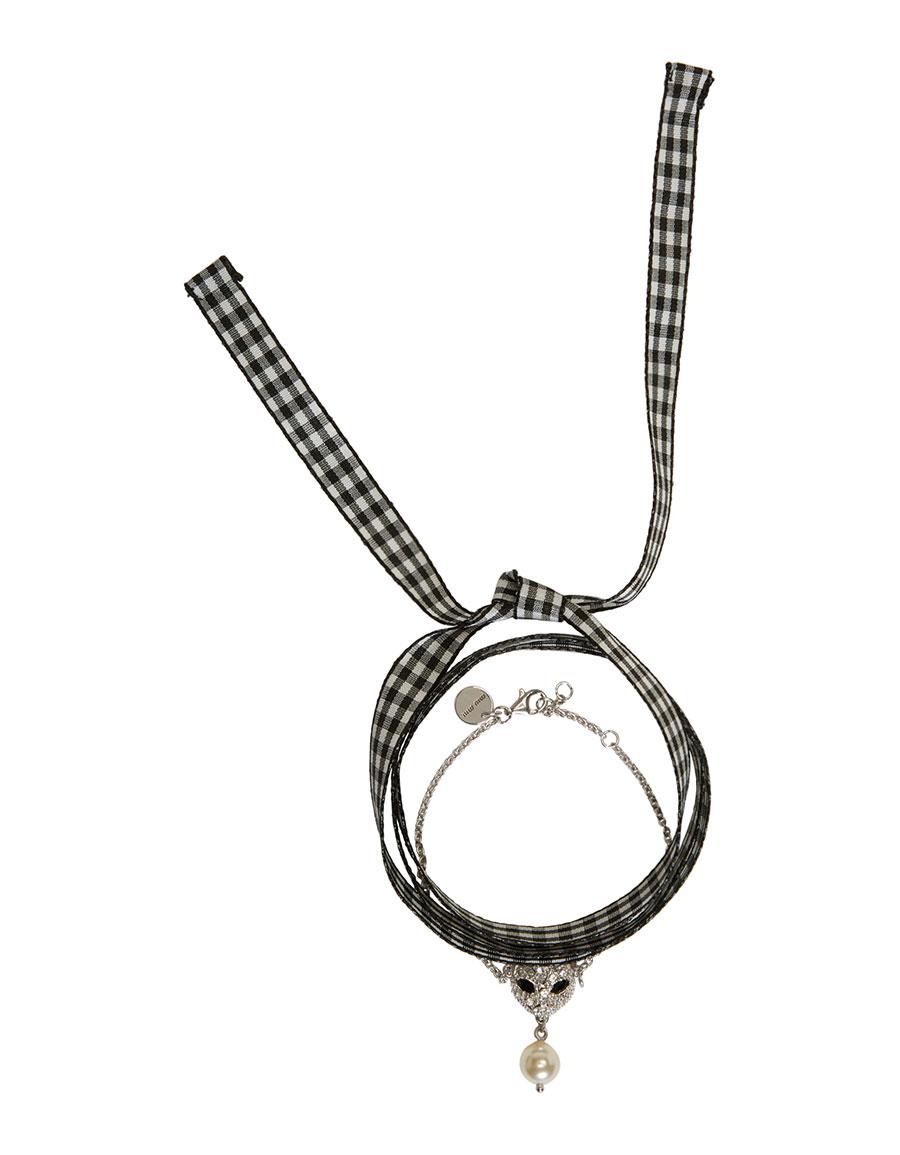 f6fdb401cd6 MIU MIU Silver Cat Pearl Charm Bracelet · VERGLE