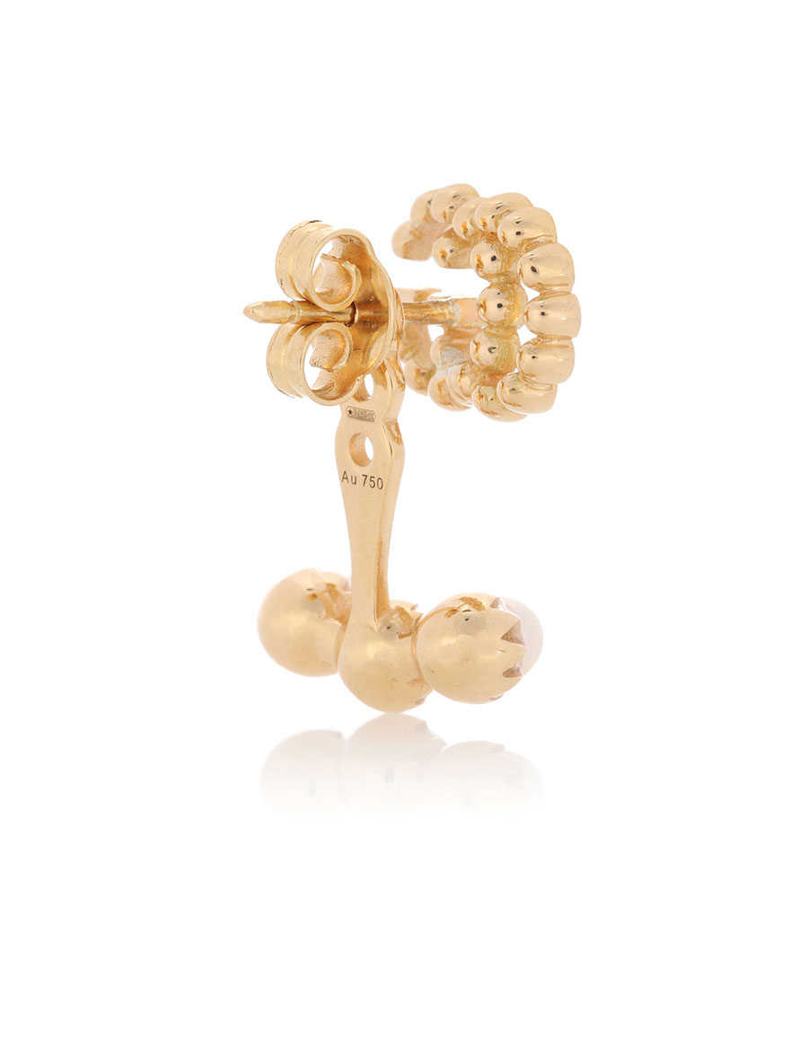 Gucci Running G 18kt gold single earring with pearls GiCWKJ