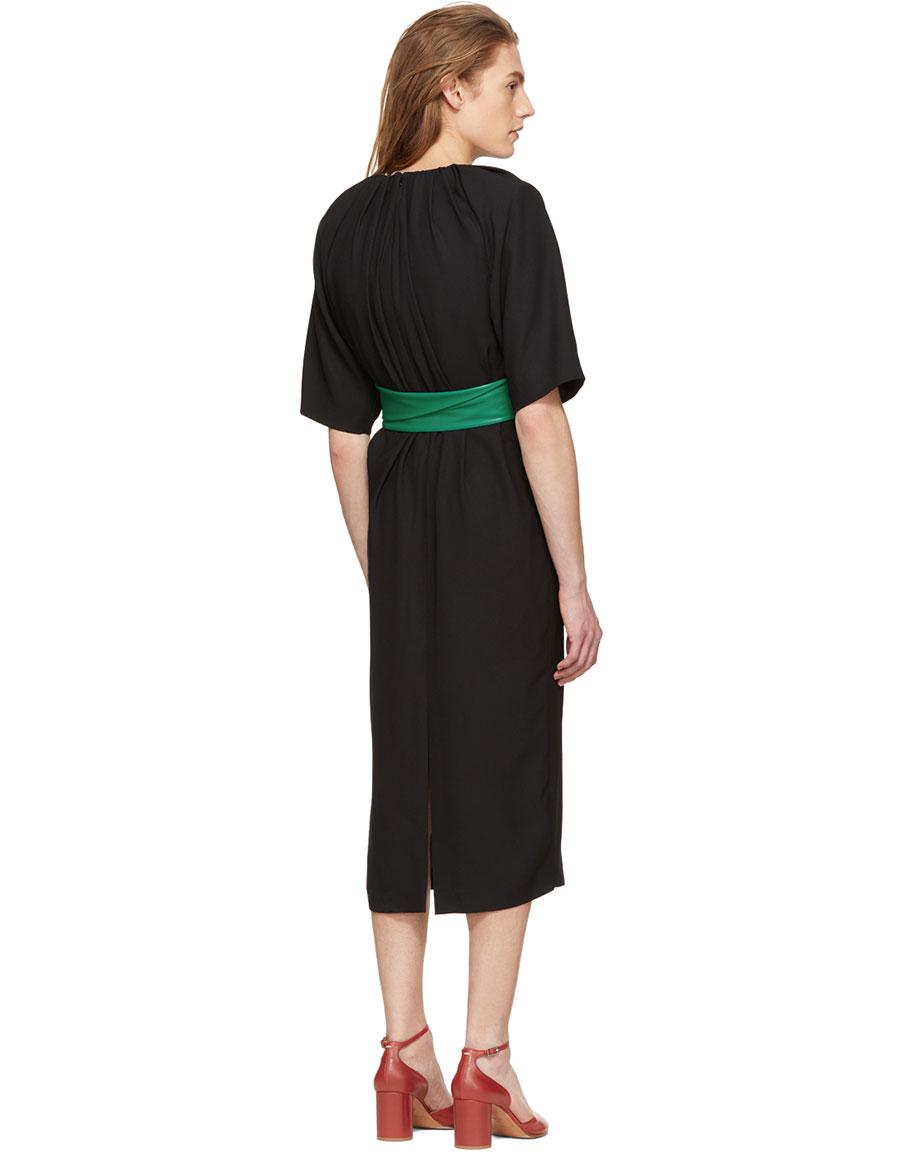 MAISON MARGIELA Black Belted Dress