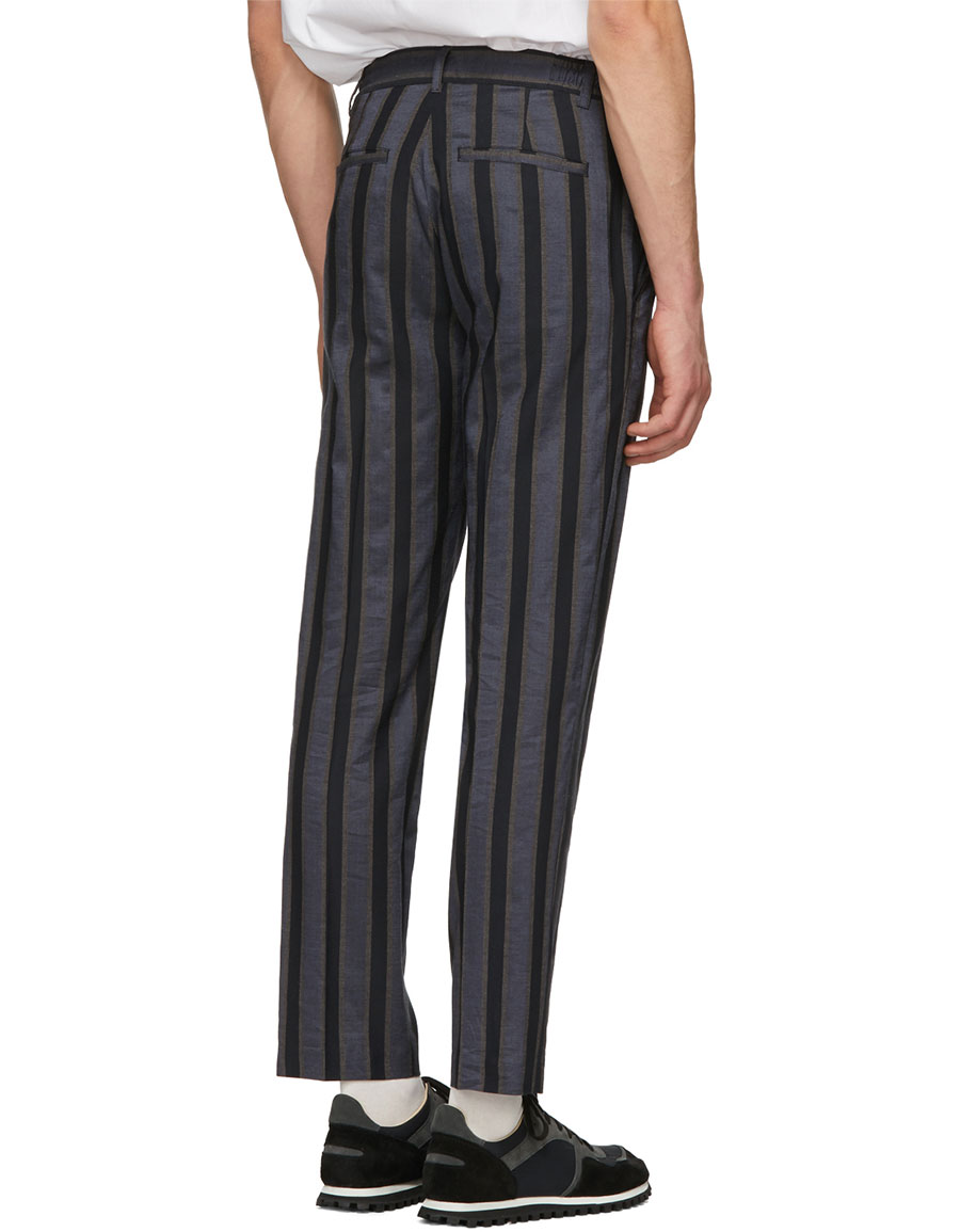 CHRISTIAN DADA Navy Stripe Trousers