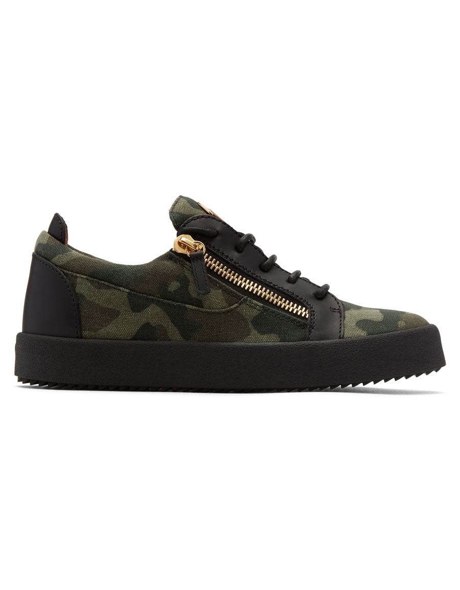 Saint Laurent Khaki Camo May London Sneakers XaGhHE48q
