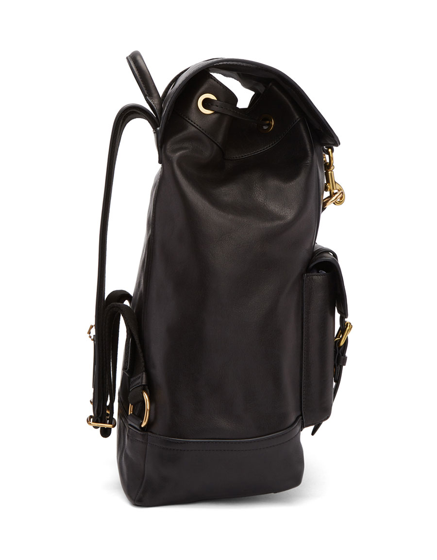 COACH 1941 Black Leather Backpack