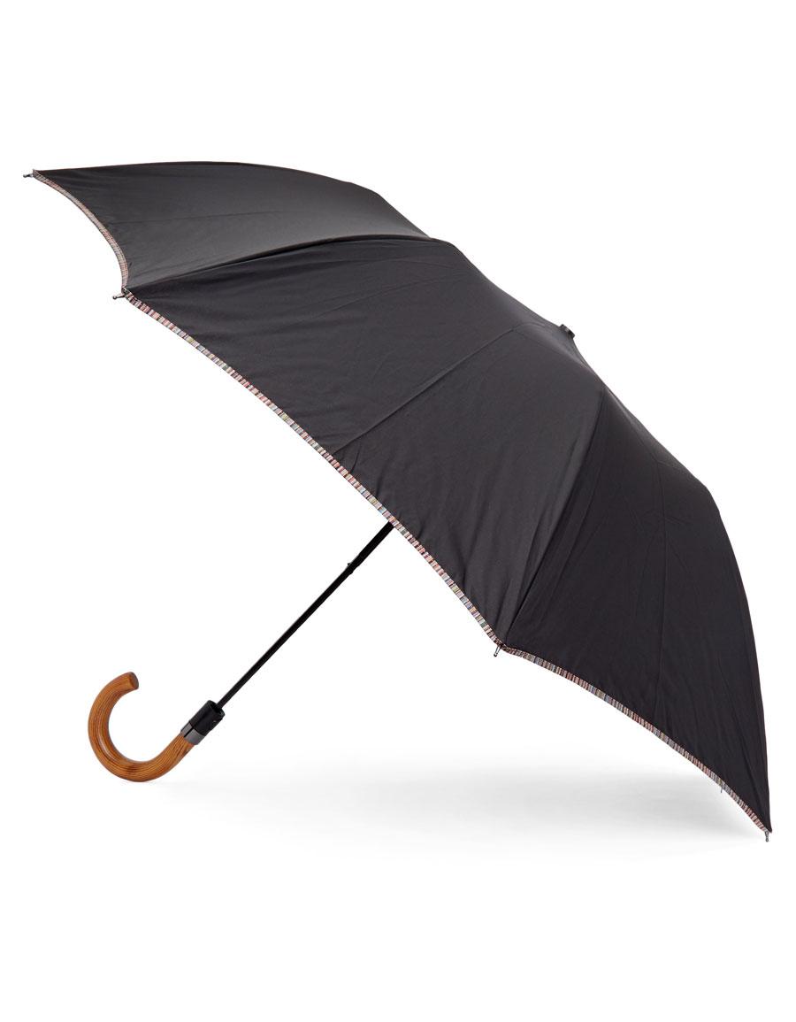 PAUL SMITH Black Crook Umbrella