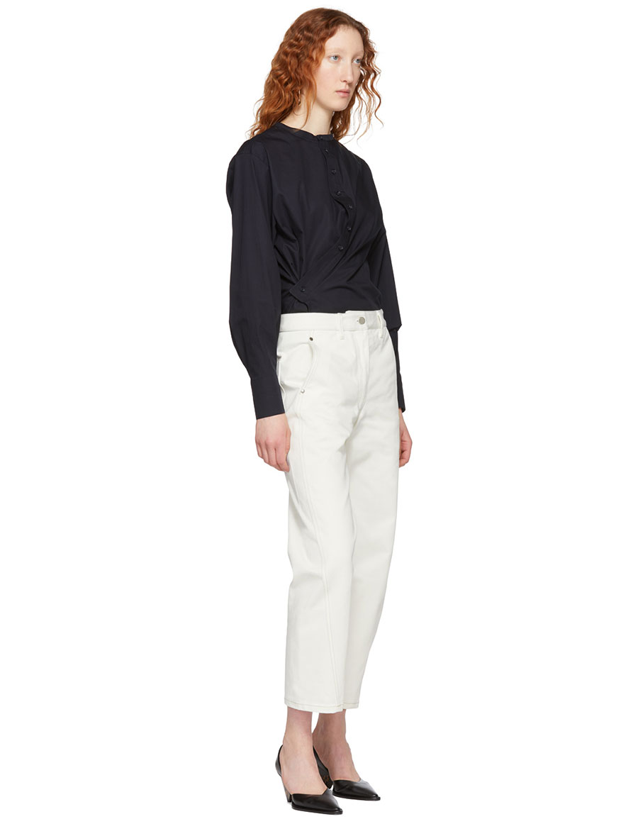 LEMAIRE Navy Twisted Shirt