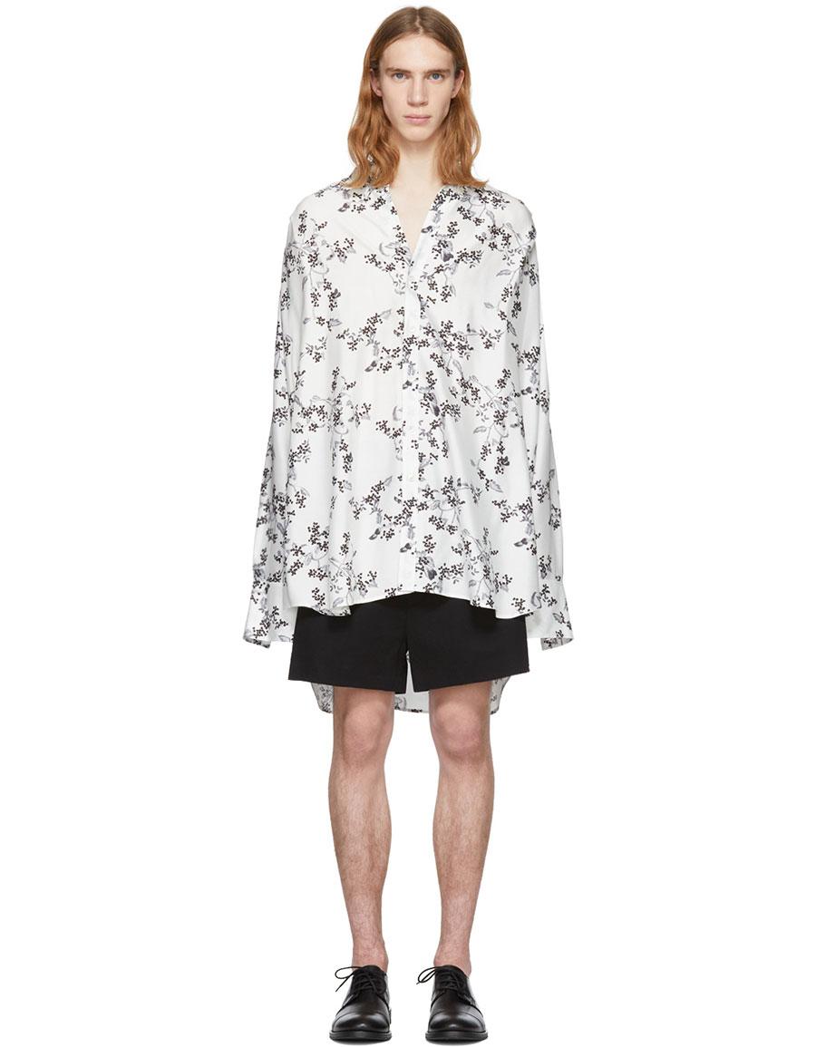 855bab28c3c06 ANN DEMEULEMEESTER White Victoria Blossom Shirt · VERGLE