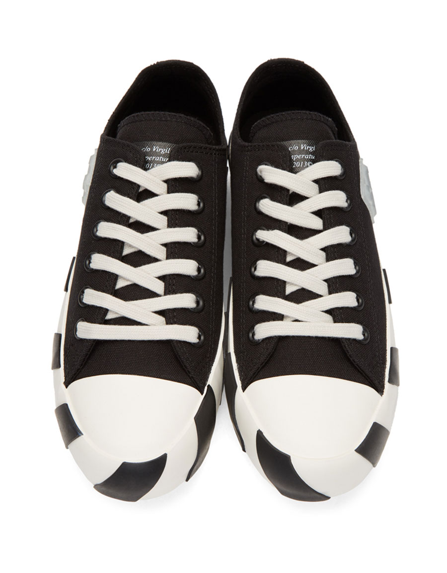 OFF WHITE Black Striped Low Sneakers