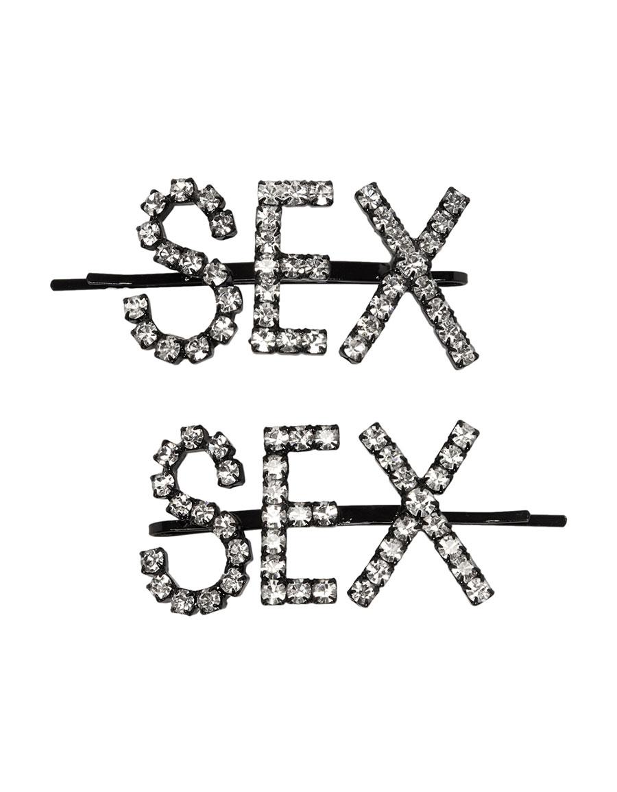 ASHLEY WILLIAMS Black 'Sex' Hair Pins