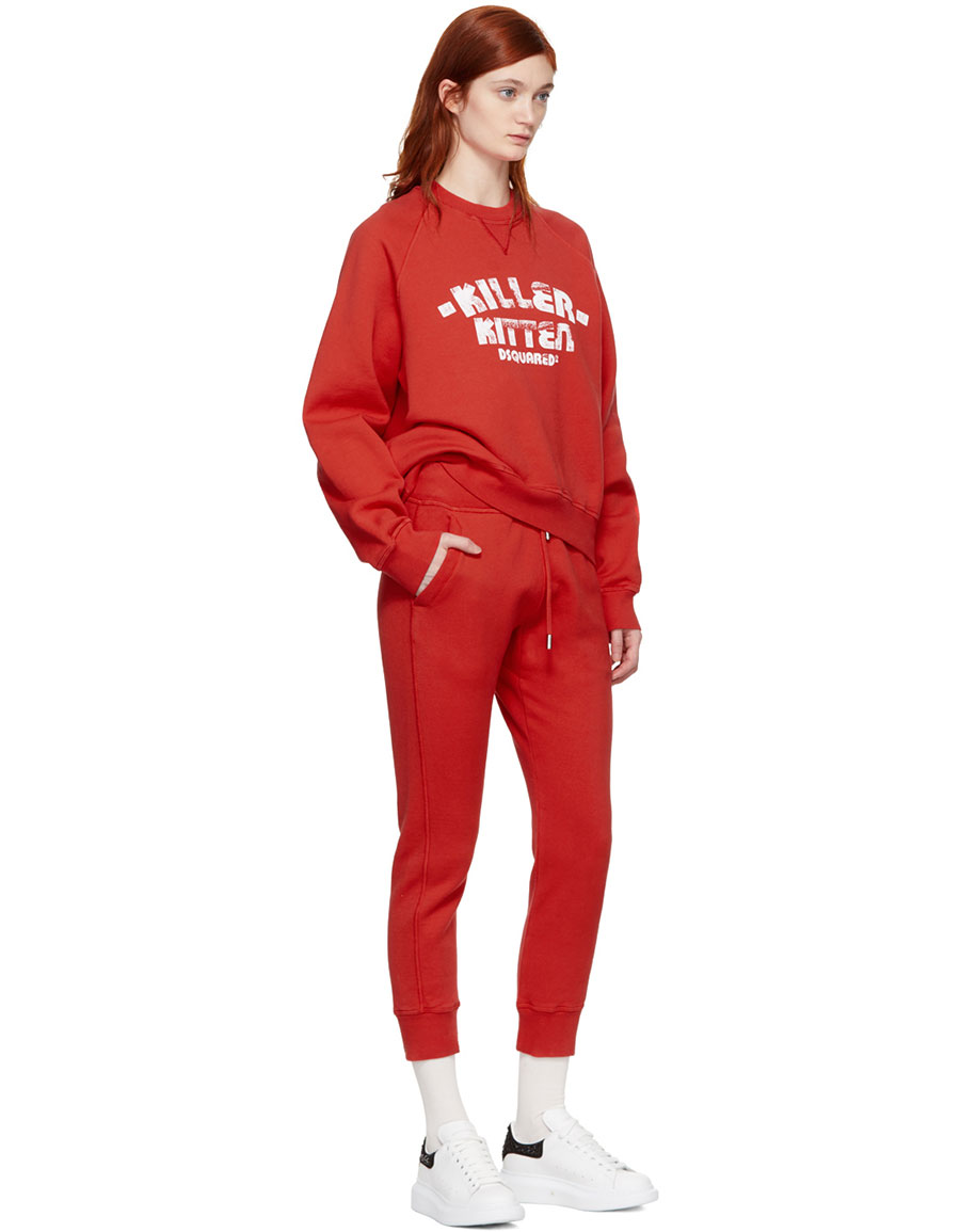DSQUARED2 Red Classic Lounge Pants