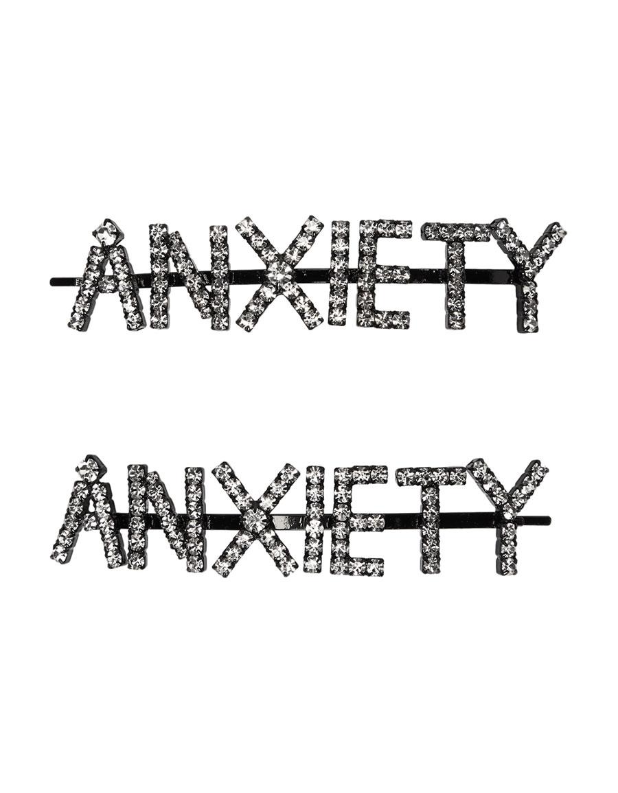 ASHLEY WILLIAMS Black 'Anxiety' Hair Pins
