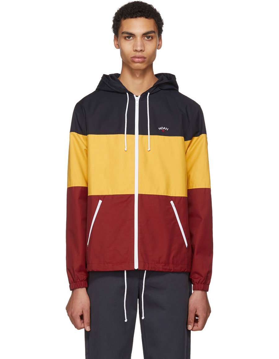 NOAH NYC Multicolor Colorblock Windcheater Jacket