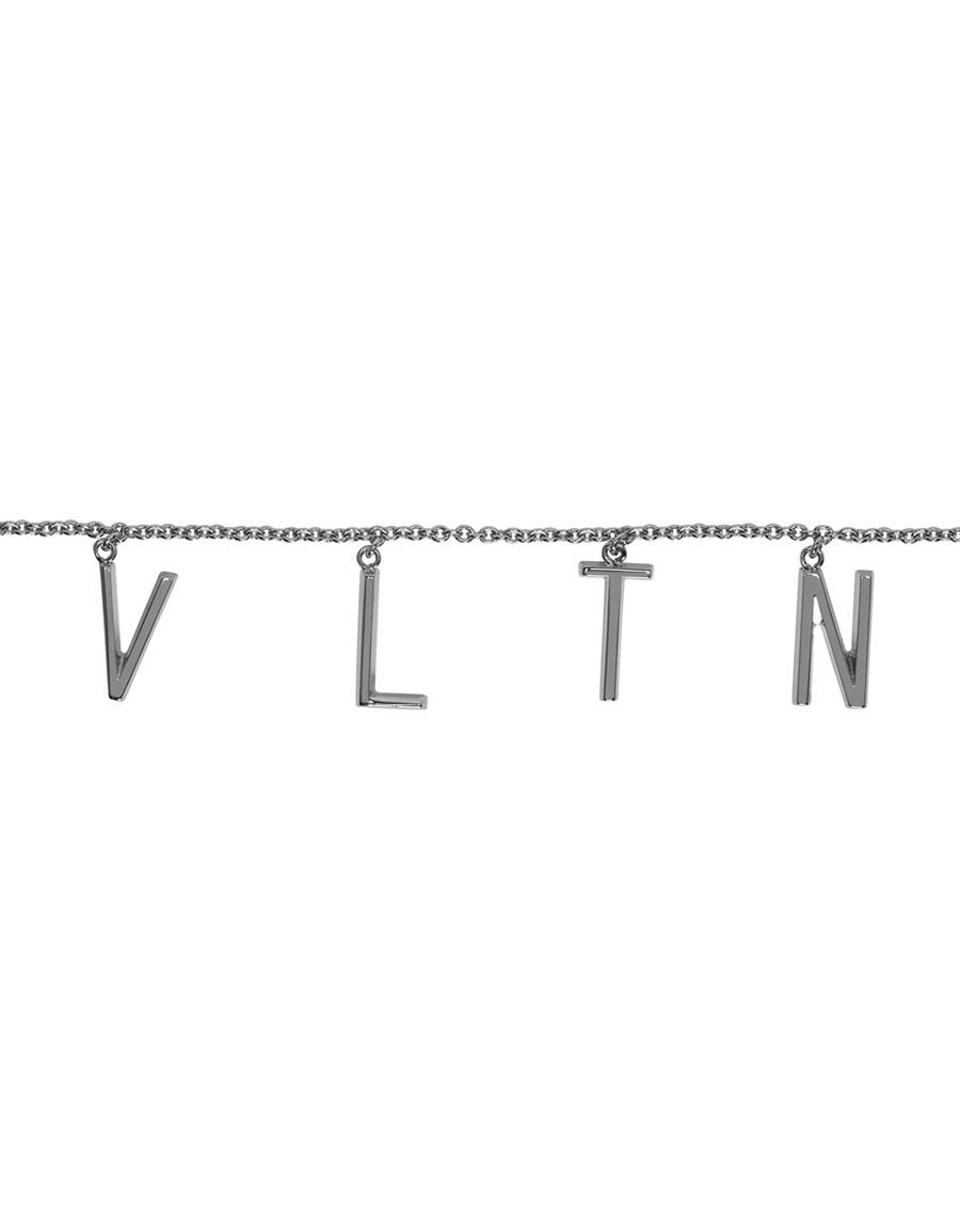 VALENTINO Silver Valentino Garavani 'VLTN' Necklace