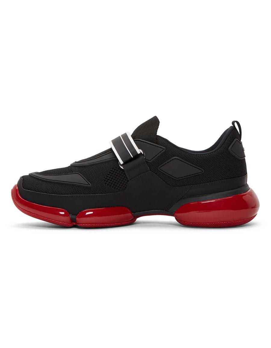 PRADA Black Cloudbust Sneakers