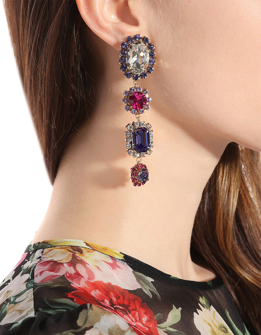 DOLCE & GABBANA Crystal clip on earrings