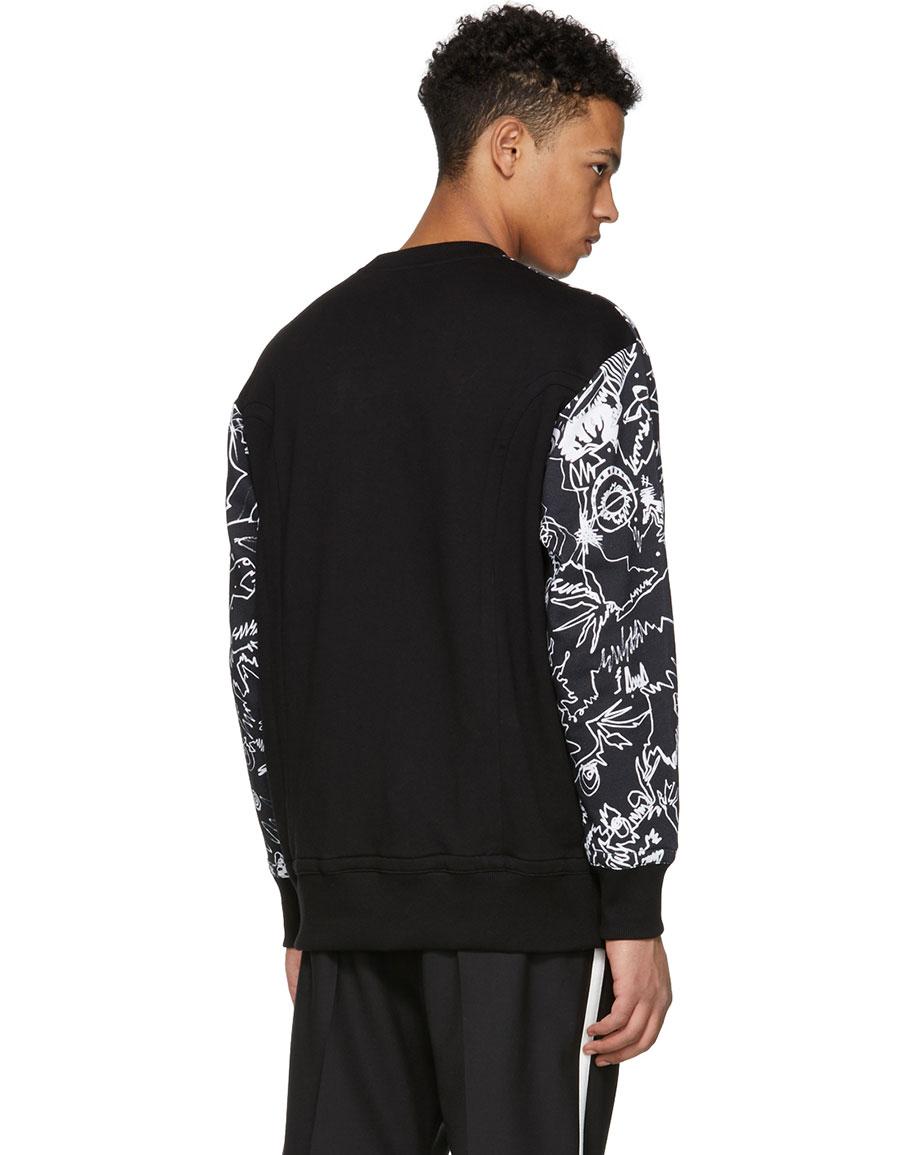 VERSUS Black Graphic Sweatshirt