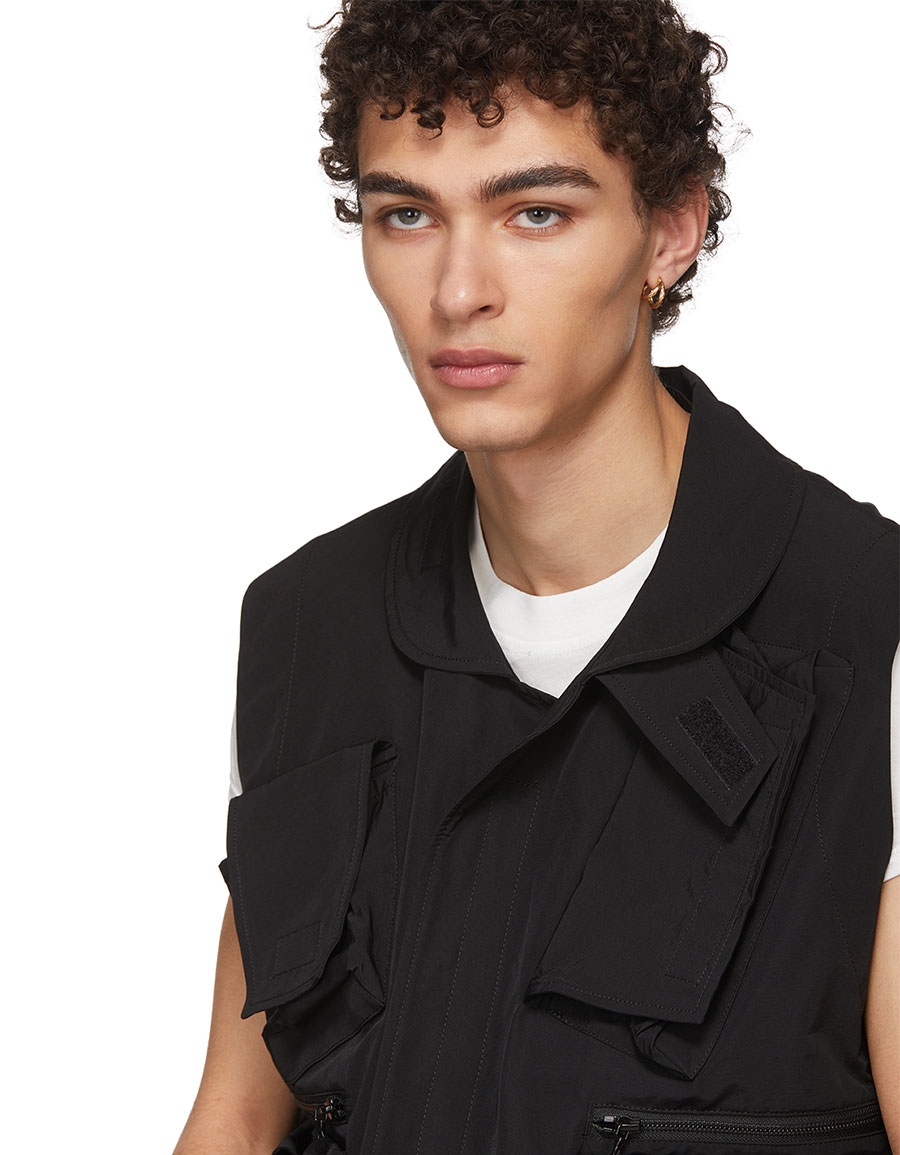 JULIUS Black Utility Vest