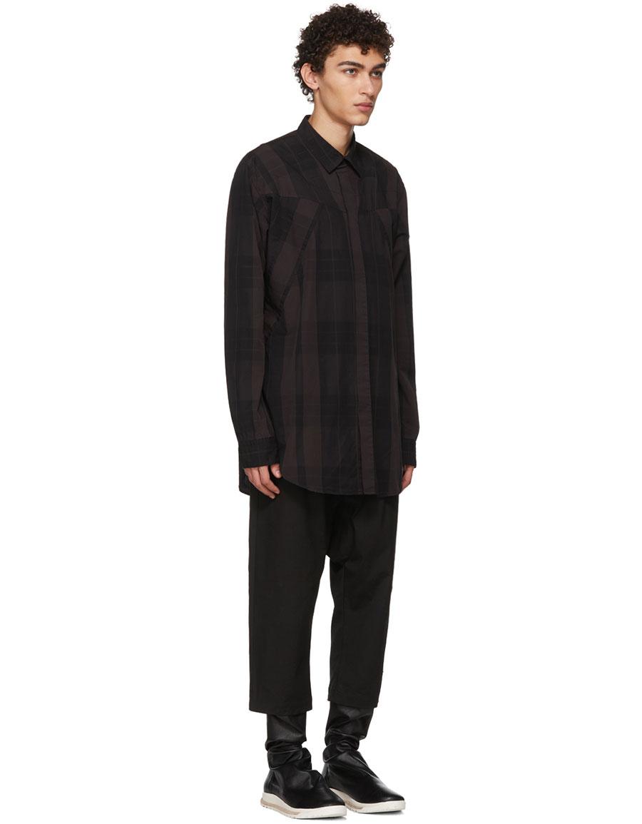 JULIUS Black Viyella Shirt