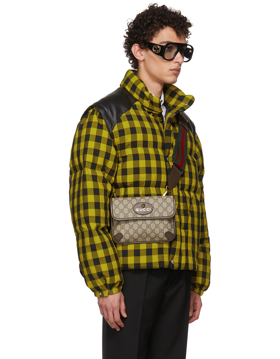 GUCCI Yellow & Black Down 'Guccy' Cat Jacket