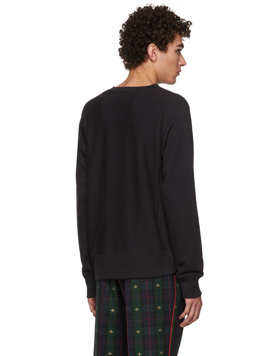 fb79998d4 GUCCI Black Teddy Bear Sweatshirt · VERGLE