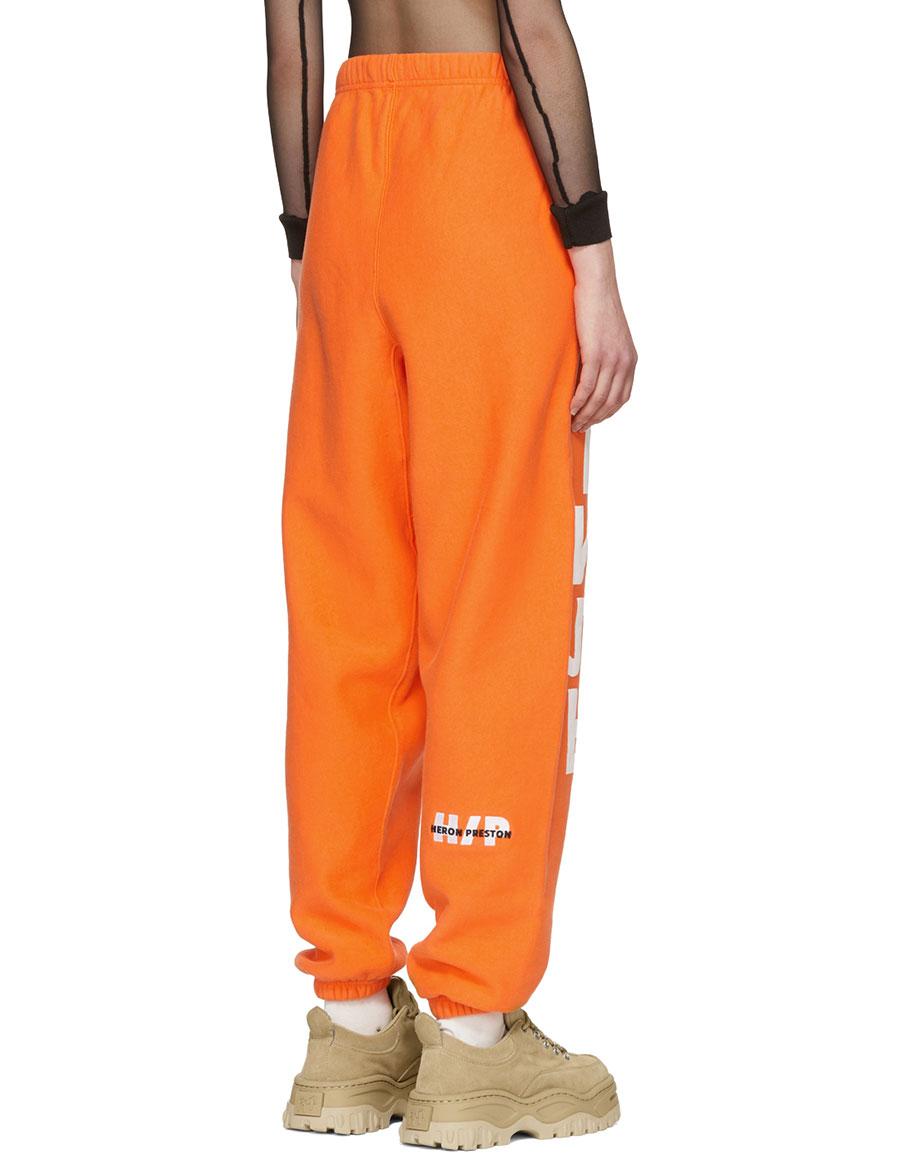 HERON PRESTON Orange 'CTNMB' Tracksuit Sweatpants