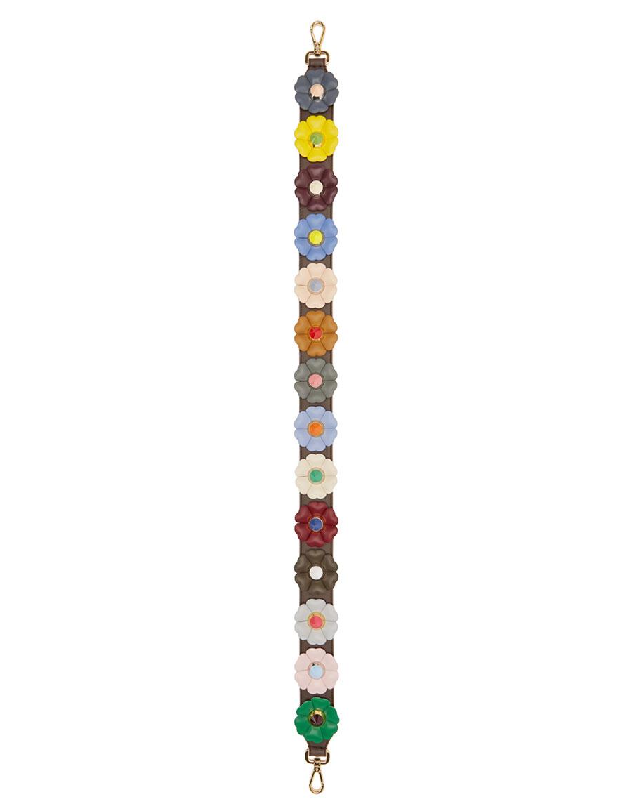 FENDI Multicolor Flowers 'Strap You' Bag Strap