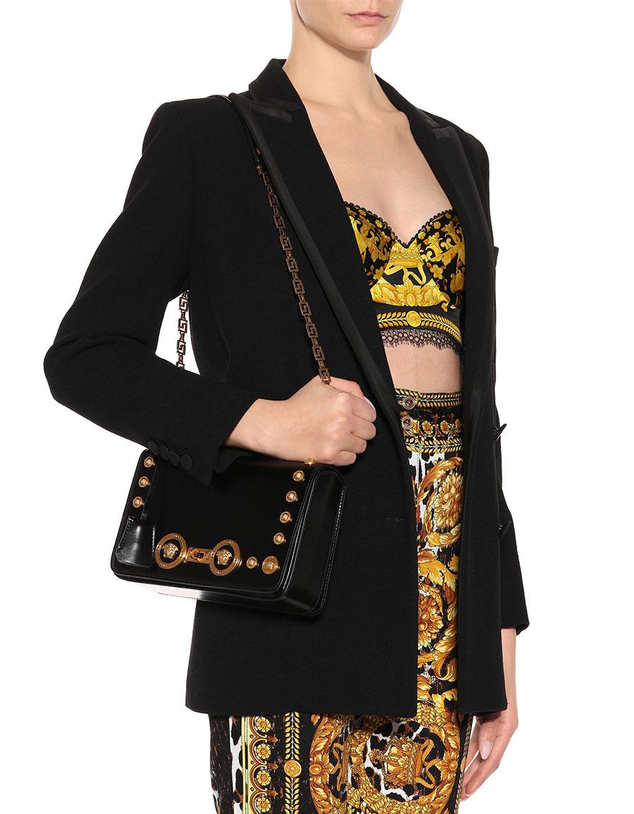 VERSACE Icon leather shoulder bag