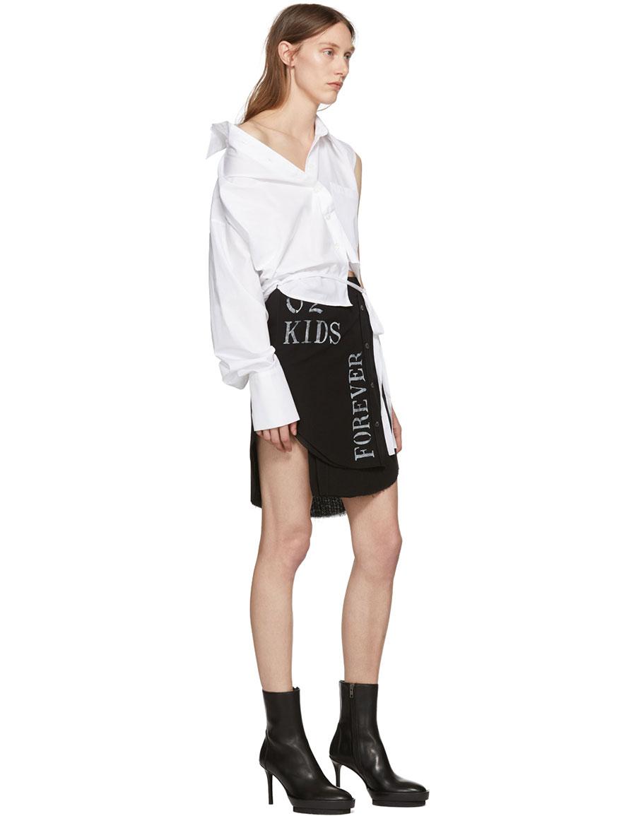 ANN DEMEULEMEESTER Black Alexis Print Skirt