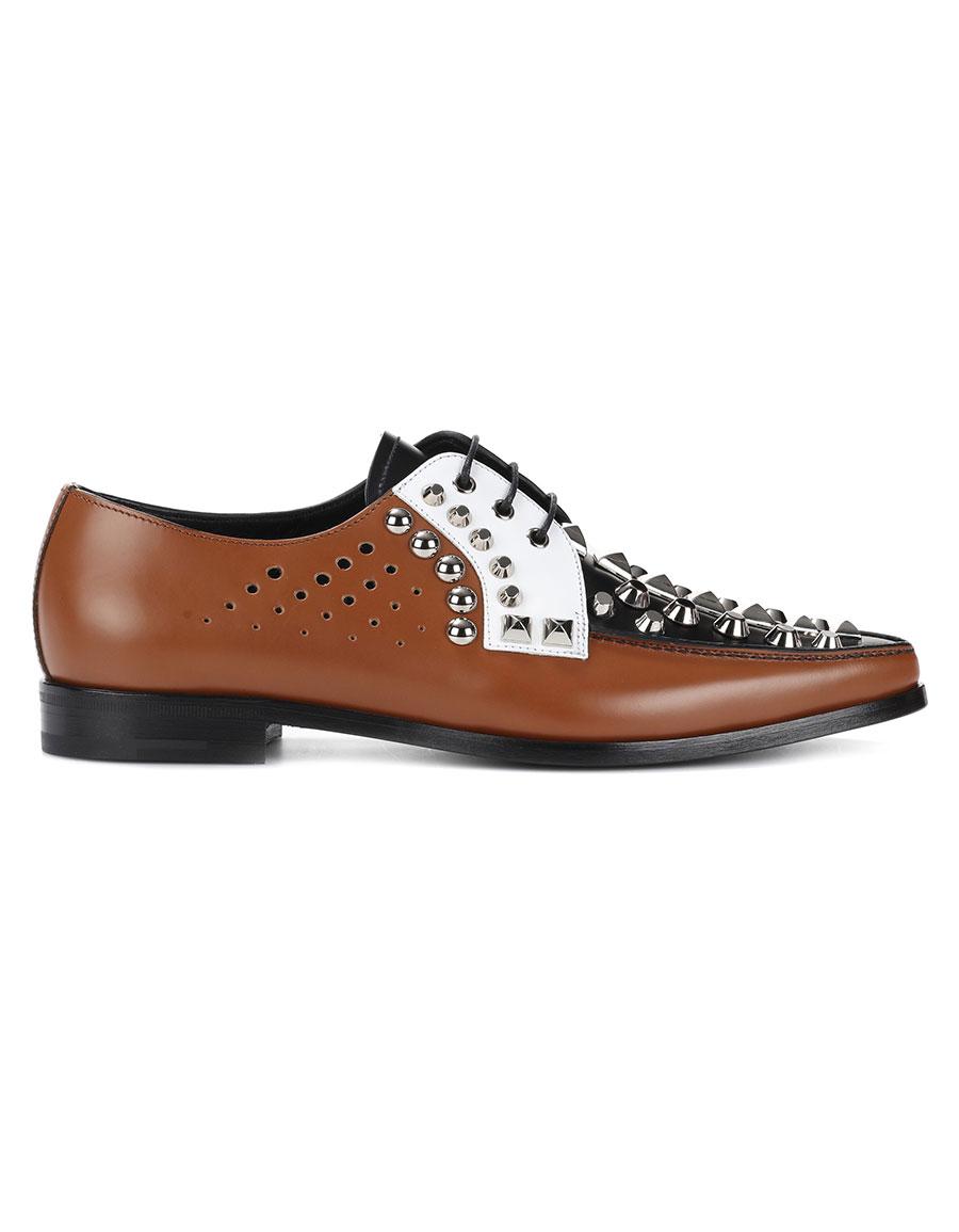PRADA Embellished leather brogues