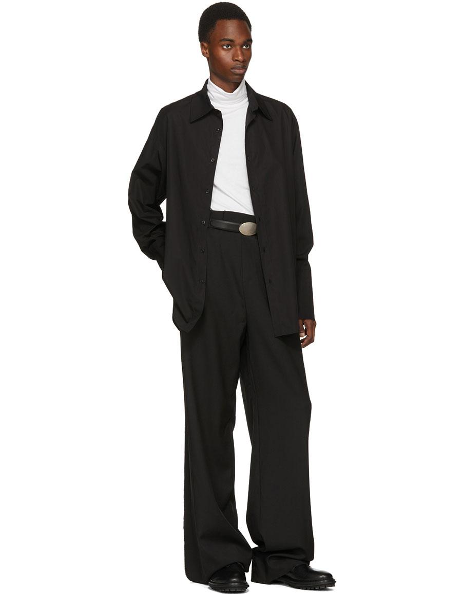 YANG LI Black High Waisted Trousers