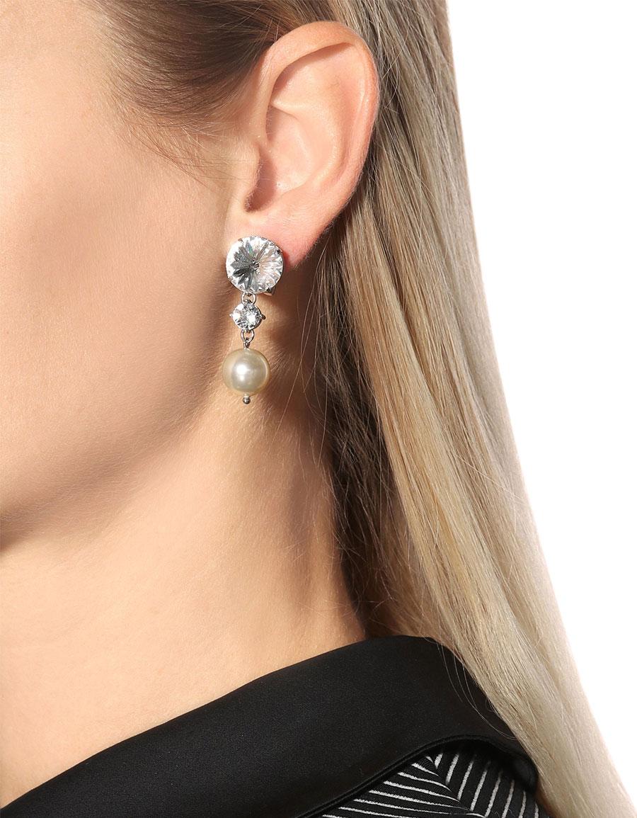 MIU MIU Crystal embellished clip on earrings