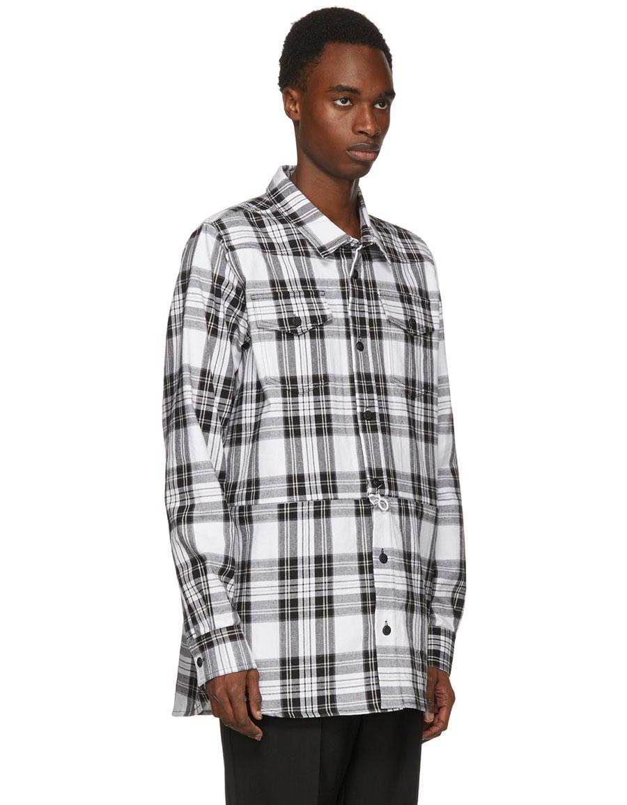 OFF WHITE Black & White Check Shirt