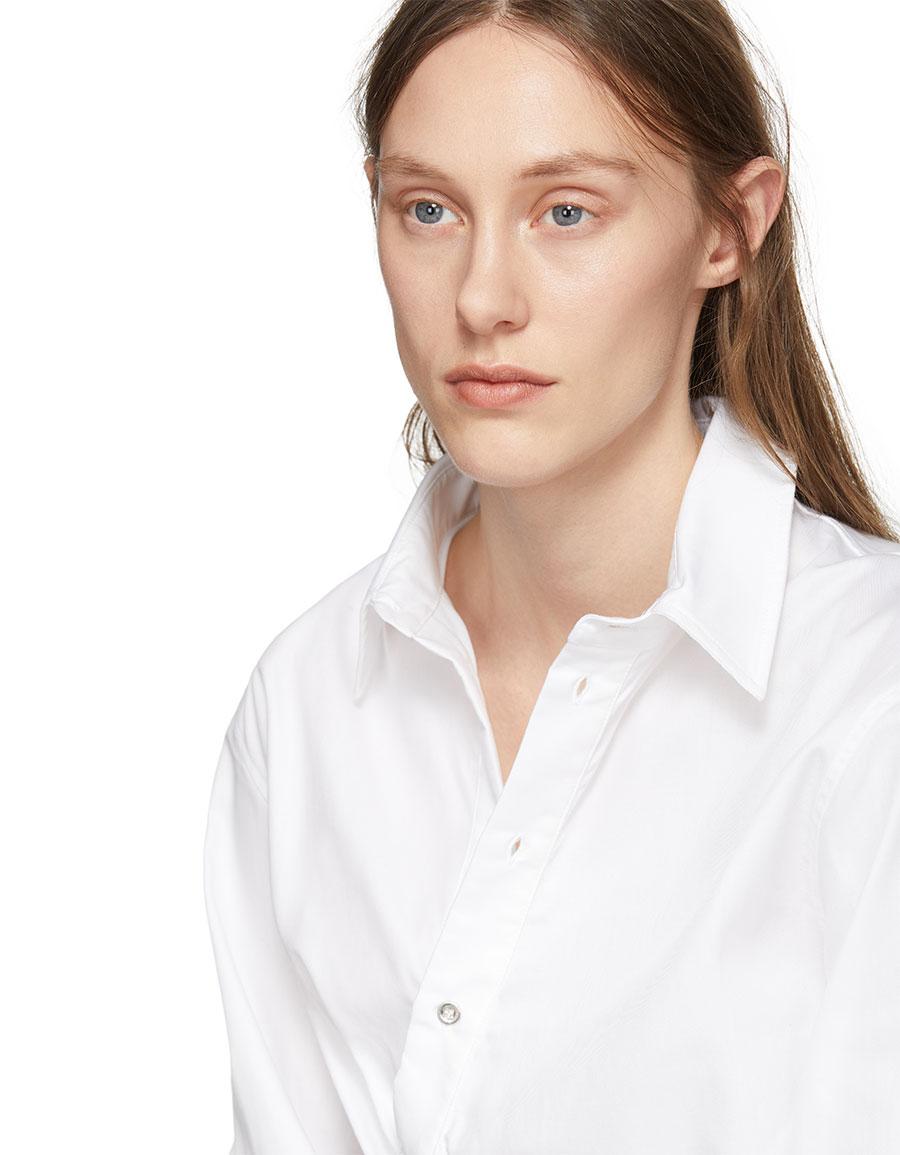 MARQUES ALMEIDA White Draped Cut Out Shirt